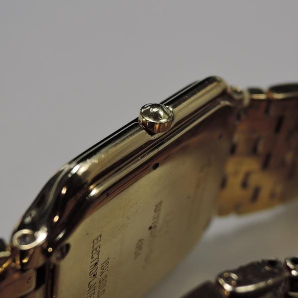 1円 RAYMOND WEIL Fidelio 【レイモンドウィル フィデリオ】 4704 メンズ ウォッチ 18K GP ゴールド 角型 時計 腕時計_画像5
