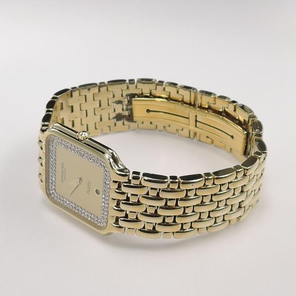 1円 RAYMOND WEIL Fidelio 【レイモンドウィル フィデリオ】 4704 メンズ ウォッチ 18K GP ゴールド 角型 時計 腕時計