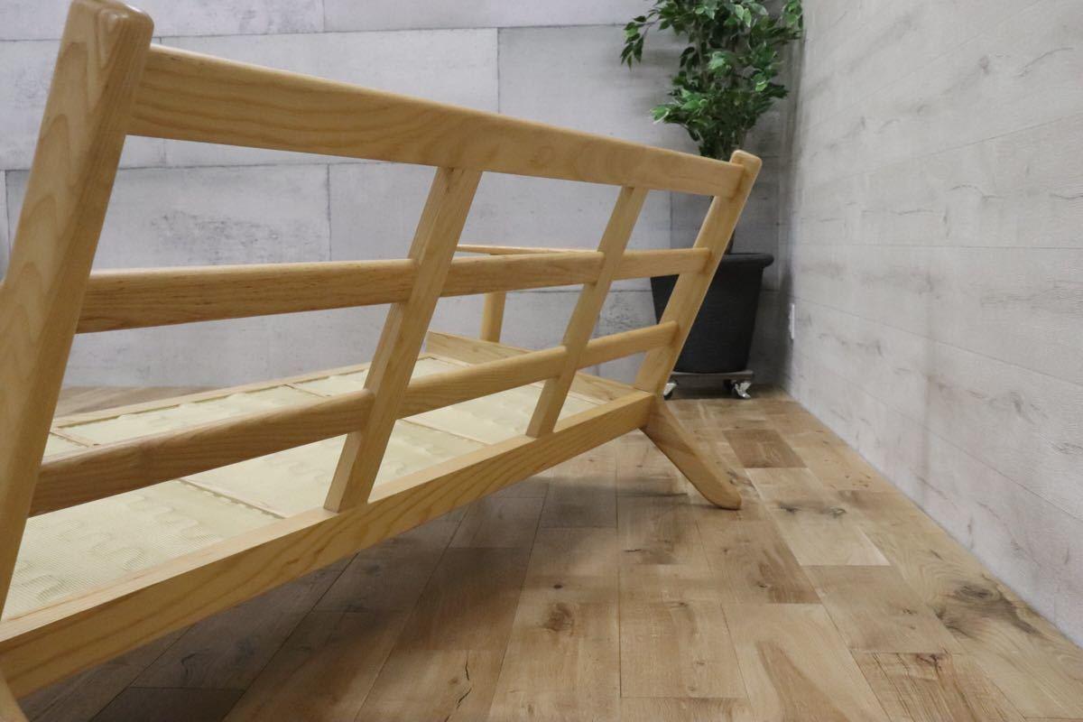 ハンス ウェグナー デザイン 3人掛けソファ トリプルソファ リプロダクト 北欧 アッシュ材 290イージーチェア gmck267_画像4