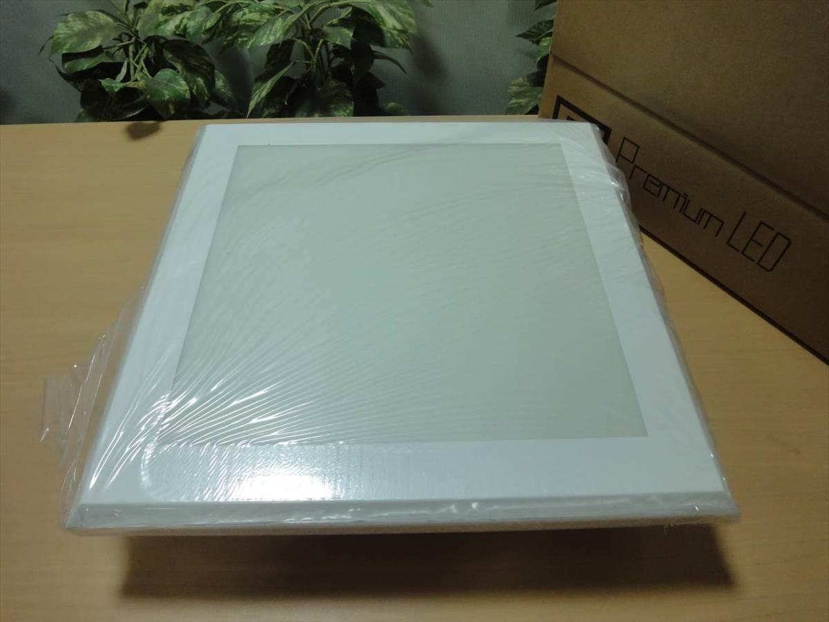 E1221n / LED 天井照明 パネルタイプ 取付簡単 5000K / 太陽光酷似 / 100~240V 30W 36×36(cm) 在庫あり_画像1