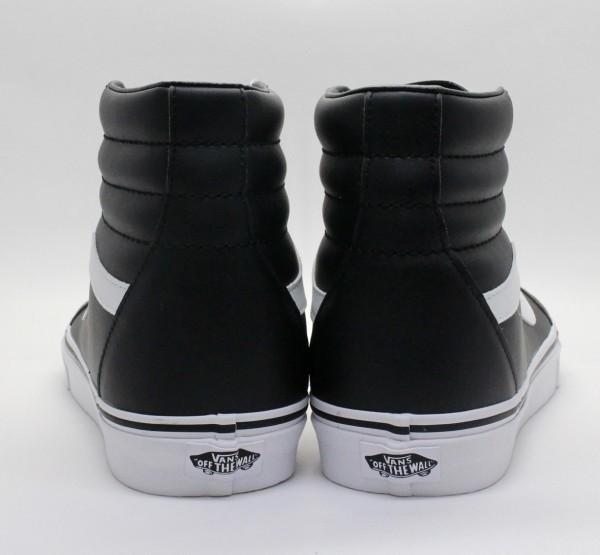 USA 企画 新品 VANS バンズ 30cm スケートハイ SK8 HI ブラック 黒 プレミアム 革 レザー ビンテージ 靴 シューズ ☆9c123_画像3