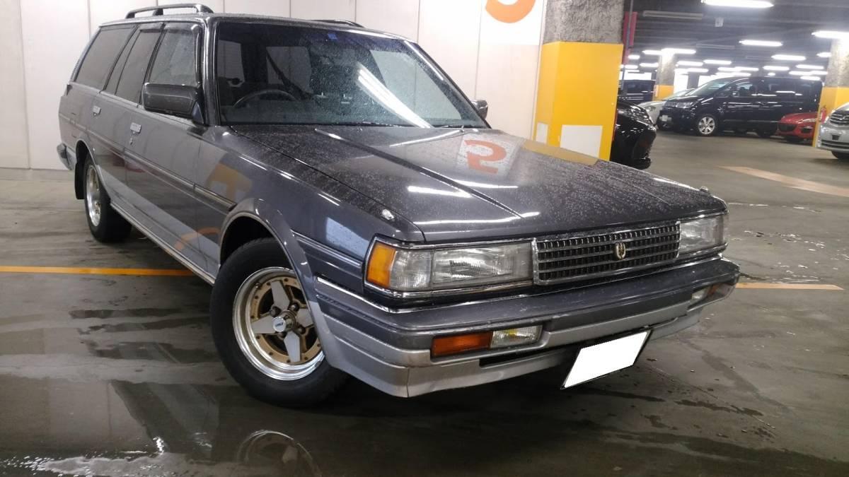 大阪の方注目! トヨタ マークⅡワゴン マーバン ツーバン なにわ 当時ナンバー ダッシュ割れなし 当時物 旧車 GX70 71 売切り