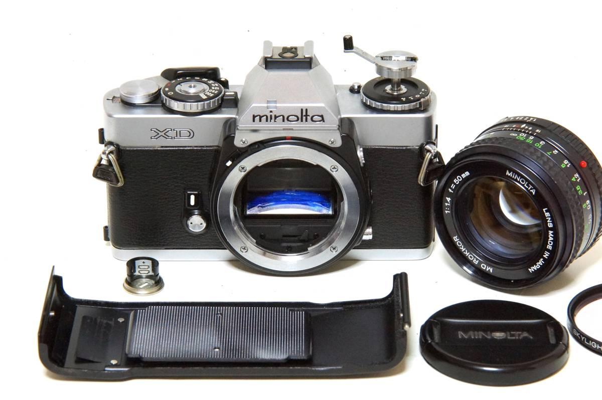 MINOLTA XD MD ROKKOR 50mmF1.4 標準レンズセット【動作確認済】_画像7