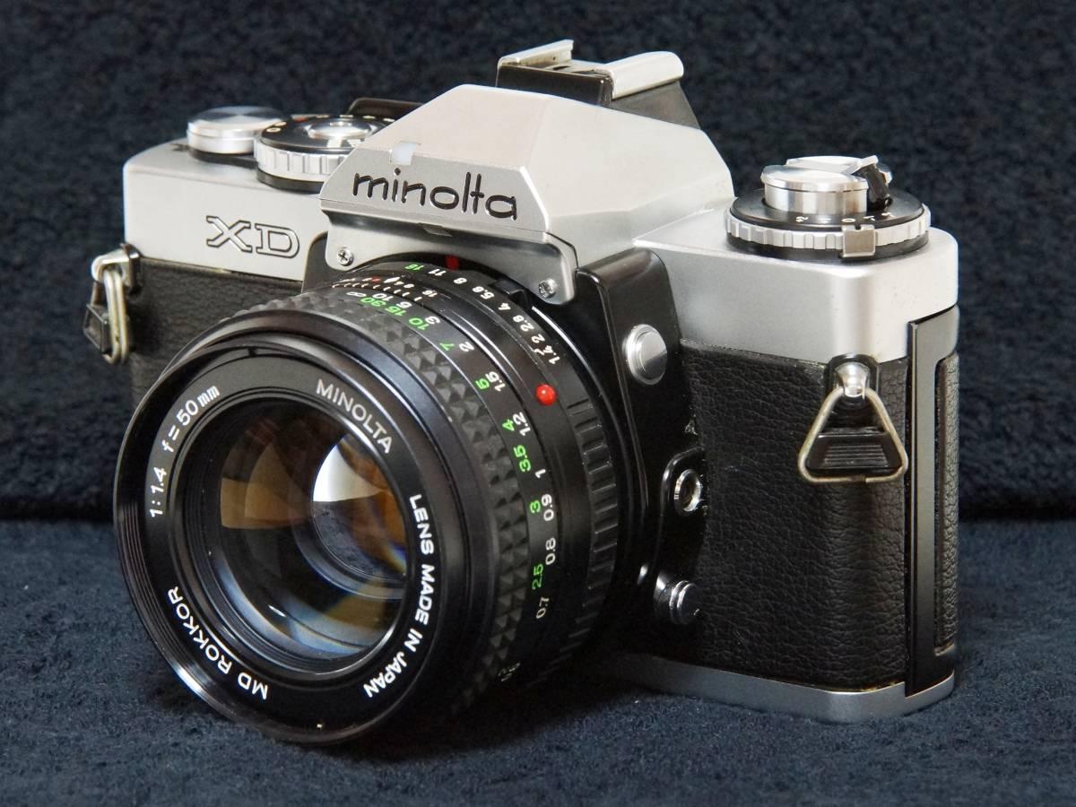 MINOLTA XD MD ROKKOR 50mmF1.4 標準レンズセット【動作確認済】_画像2