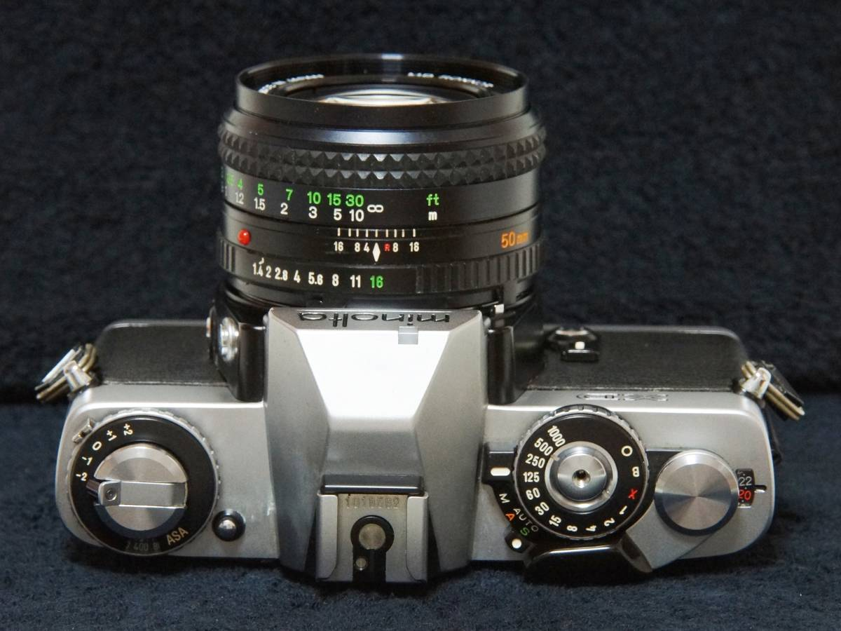 MINOLTA XD MD ROKKOR 50mmF1.4 標準レンズセット【動作確認済】_画像4