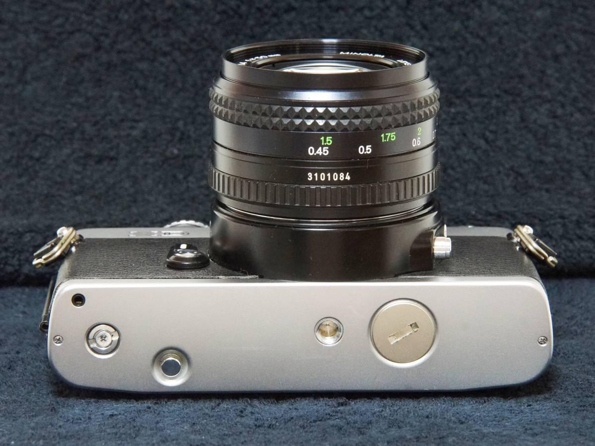 MINOLTA XD MD ROKKOR 50mmF1.4 標準レンズセット【動作確認済】_画像5