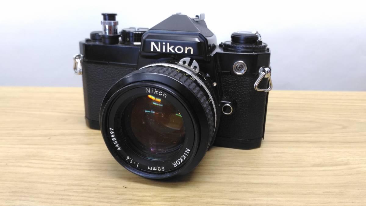 [MtY20]Nikon ニコン フィルムカメラまとめ Nikon F/Nikon FE/Nikomat EL ストロボ ジャンク品 80サイズ_画像6