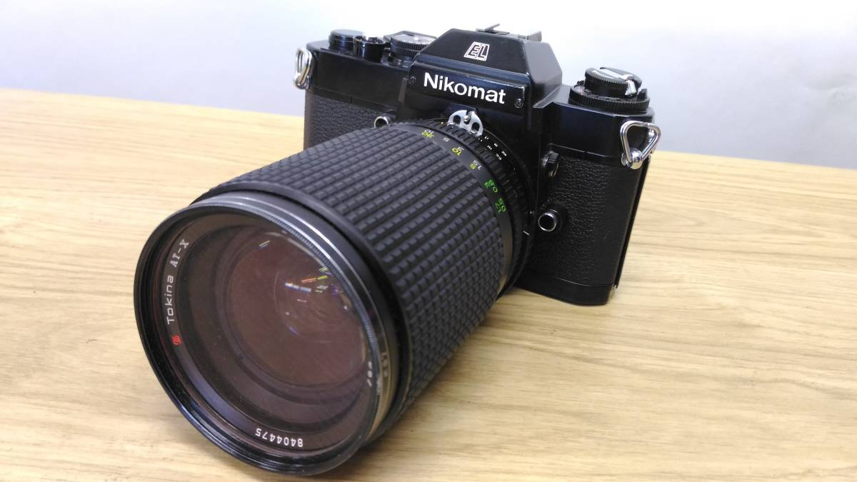 [MtY20]Nikon ニコン フィルムカメラまとめ Nikon F/Nikon FE/Nikomat EL ストロボ ジャンク品 80サイズ_画像4