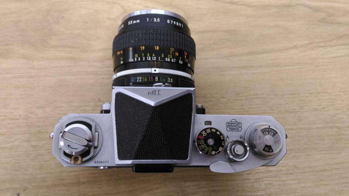 [MtY20]Nikon ニコン フィルムカメラまとめ Nikon F/Nikon FE/Nikomat EL ストロボ ジャンク品 80サイズ_画像3