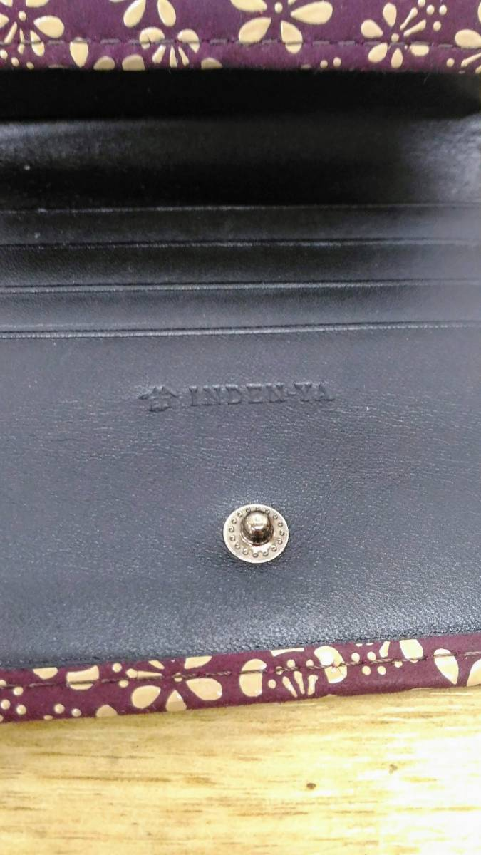 〔ZY74〕印伝屋 工芸品  折サイフ&メガネケースセット 中古品 60サイズ_画像3