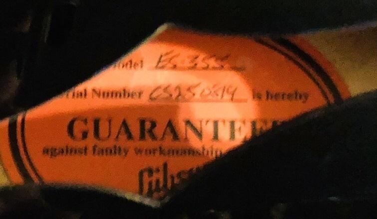 Gibson Custom Shop製 ES-355 エボニー_画像7