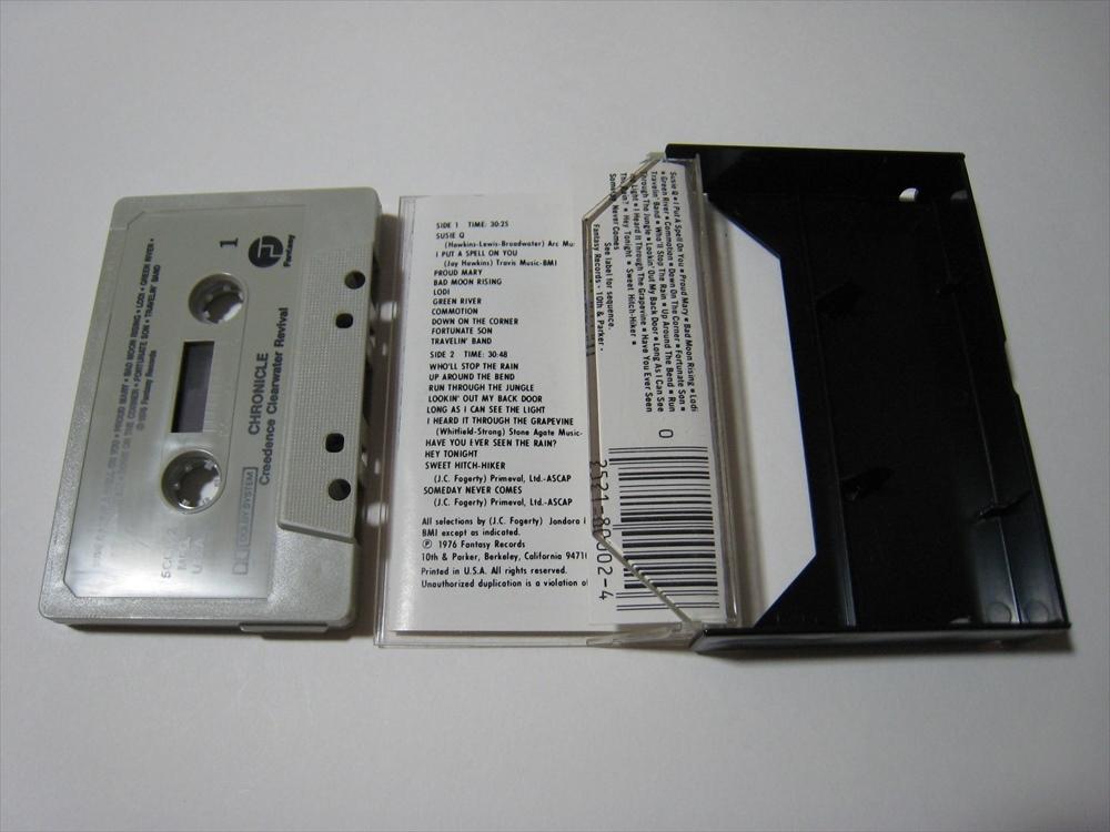 【カセットテープ】 CREEDENCE CLEARWATER REVIVAL / CHRONICLE US版 クリーデンス・クリアウォーター・リバイバル クロニクル_画像4
