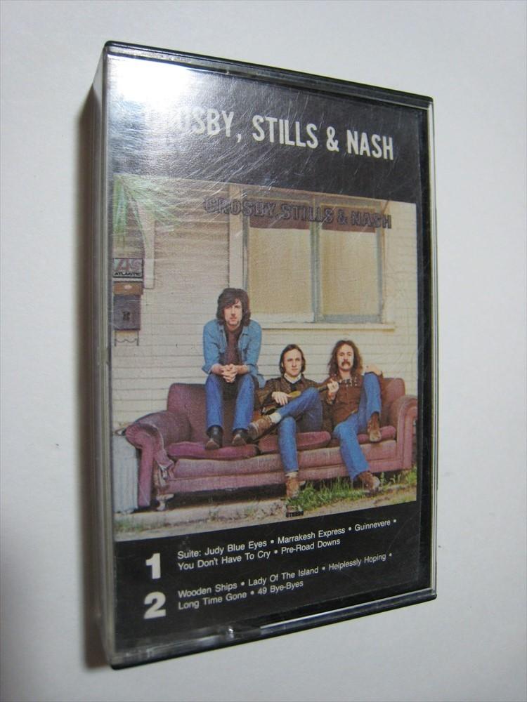 【カセットテープ】 CROSBY, STILLS & NASH / CROSBY, STILLS & NASH US版 クロスビー、スティルス&ナッシュ_画像1
