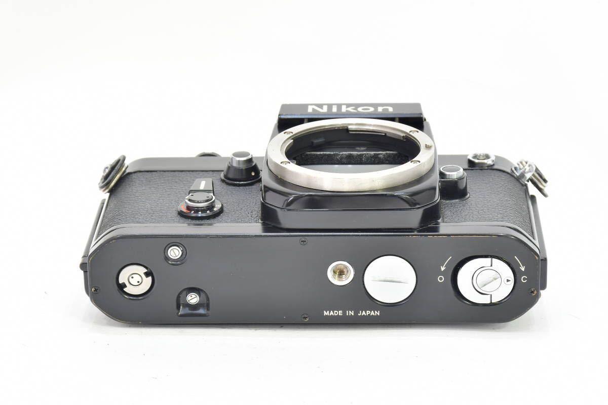 2AM393 ◆ Nikon ニコン F2 アイレベル ブラック 794万台 ブラック DE-1 MF一眼レフ フイルムカメラ_画像4