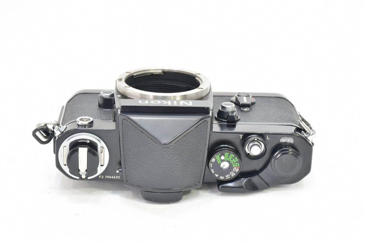 2AM393 ◆ Nikon ニコン F2 アイレベル ブラック 794万台 ブラック DE-1 MF一眼レフ フイルムカメラ_画像3