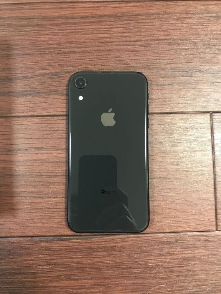 【ほぼ新品】iPhone XR 128GB ブラック 黒 SIMロック解除済 付属品有 Apple _画像3