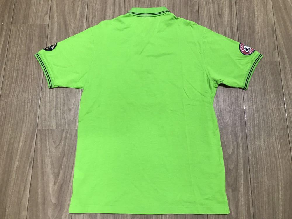 超美品 SINA COVA シナコバ 半袖 ポロシャツ メンズ サイズ LL グリーン 緑 ワッペン シャツ トップス 高級 人気 ゴルフ 日本製 大きい_画像8