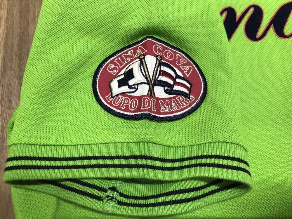 超美品 SINA COVA シナコバ 半袖 ポロシャツ メンズ サイズ LL グリーン 緑 ワッペン シャツ トップス 高級 人気 ゴルフ 日本製 大きい_画像5