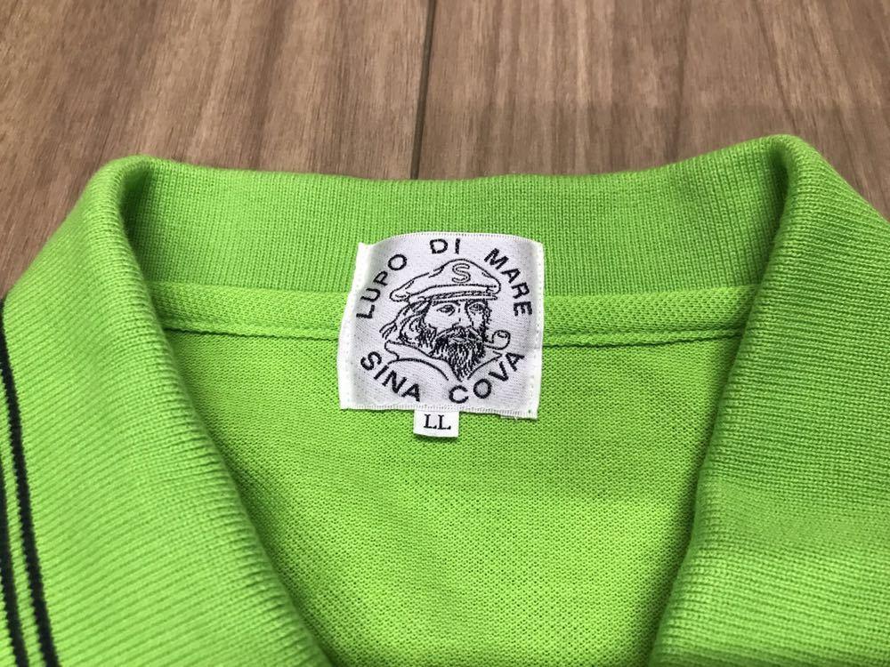 超美品 SINA COVA シナコバ 半袖 ポロシャツ メンズ サイズ LL グリーン 緑 ワッペン シャツ トップス 高級 人気 ゴルフ 日本製 大きい_画像7