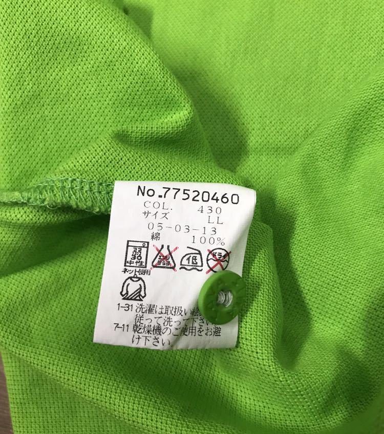 超美品 SINA COVA シナコバ 半袖 ポロシャツ メンズ サイズ LL グリーン 緑 ワッペン シャツ トップス 高級 人気 ゴルフ 日本製 大きい_画像9
