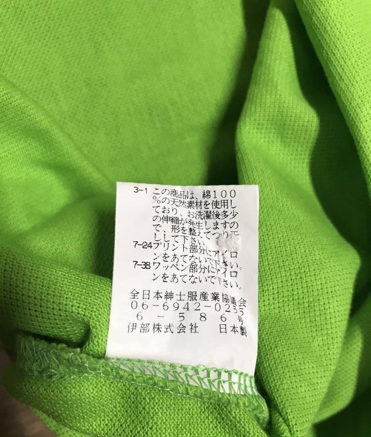 超美品 SINA COVA シナコバ 半袖 ポロシャツ メンズ サイズ LL グリーン 緑 ワッペン シャツ トップス 高級 人気 ゴルフ 日本製 大きい_画像10
