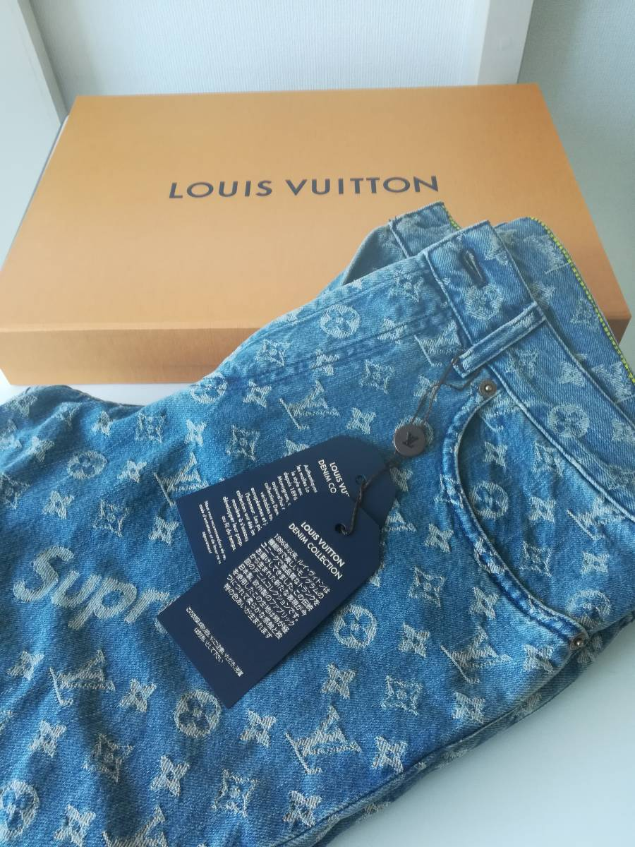 【稀少品】Supreme x LOUIS VUITTON ルイ・ヴィトン × シュプリーム デニムパンツ 未使用 送料無料 1円スタート