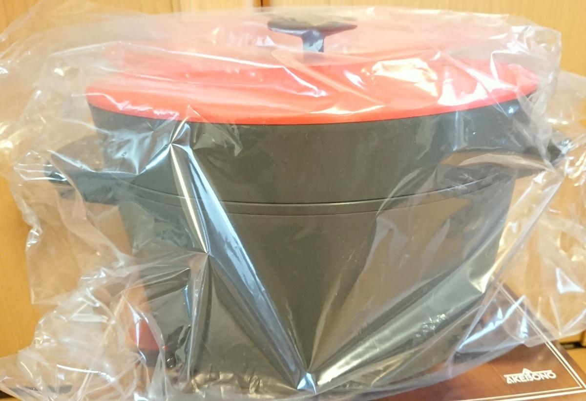 新品未使用☆電子レンジ専用 保温調理鍋 Grand Cooker グランクッカー レッド RE-1525 電子レンジ専用圧力鍋 即決_画像5