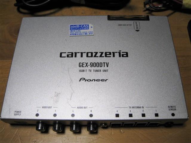 1スタ~ カロッツェリア チューナー GEX-9000 miniB-CAS リモコン_画像5