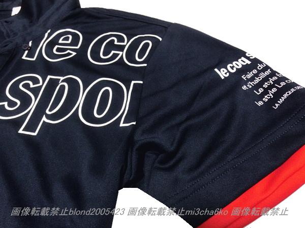 ■新品【le coq】ルコック左胸BIGロゴQUICK-DRY吸汗速乾機能ポロ■NV/XO_画像3