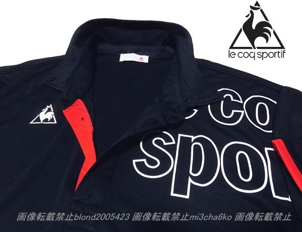■新品【le coq】ルコック左胸BIGロゴQUICK-DRY吸汗速乾機能ポロ■NV/XO_画像2