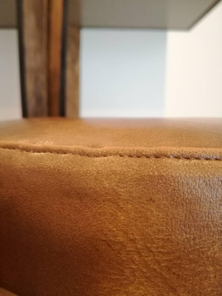 1950 1960 mid century leather stool 高級 展示品 ミッドセンチュリー ヴィンテージ _画像6