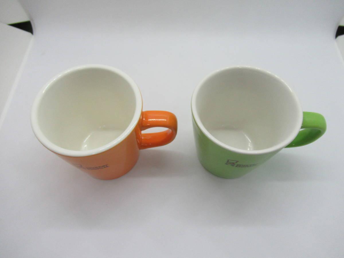 ミスタードーナツ マグカップ(オレンジ・グリーン)2個セット_画像2