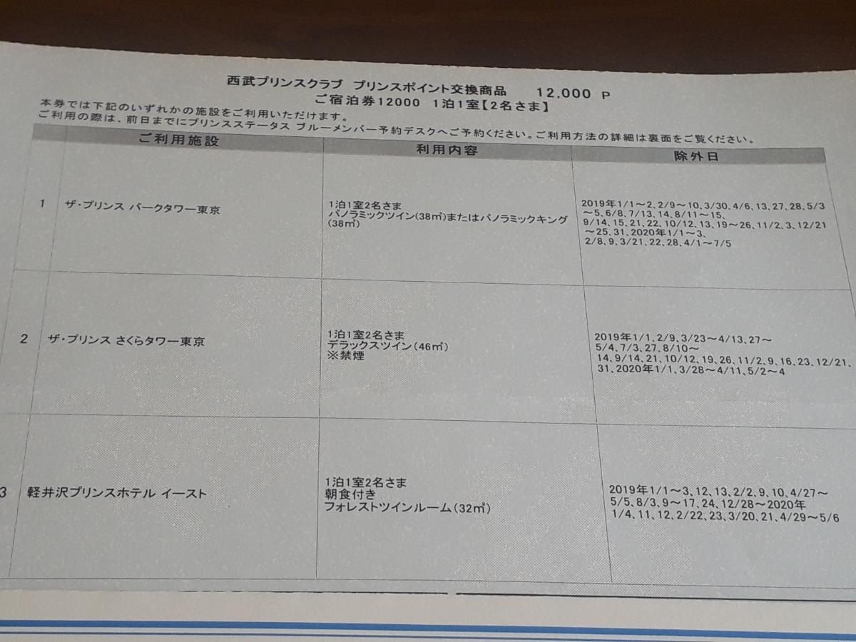 パークタワー、さくらタワー東京 プリンスホテル宿泊券 2019/12/11まで_画像4