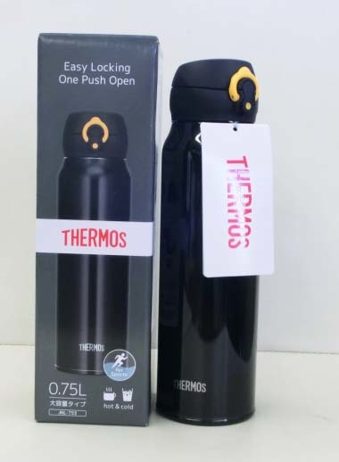 M1320【未使用】サーモス 水筒 真空断熱ケータイマグ 【ワンタッチオープンタイプ】 0.75L JNL-753 BKY