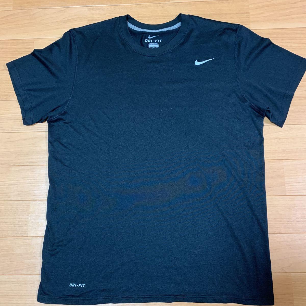 Nike DRY FIT ナイキ ドライフィット 半袖 XXL ブラック XL 2XL 速乾 ドライ Tシャツ NIKE 半袖Tシャツ 黒