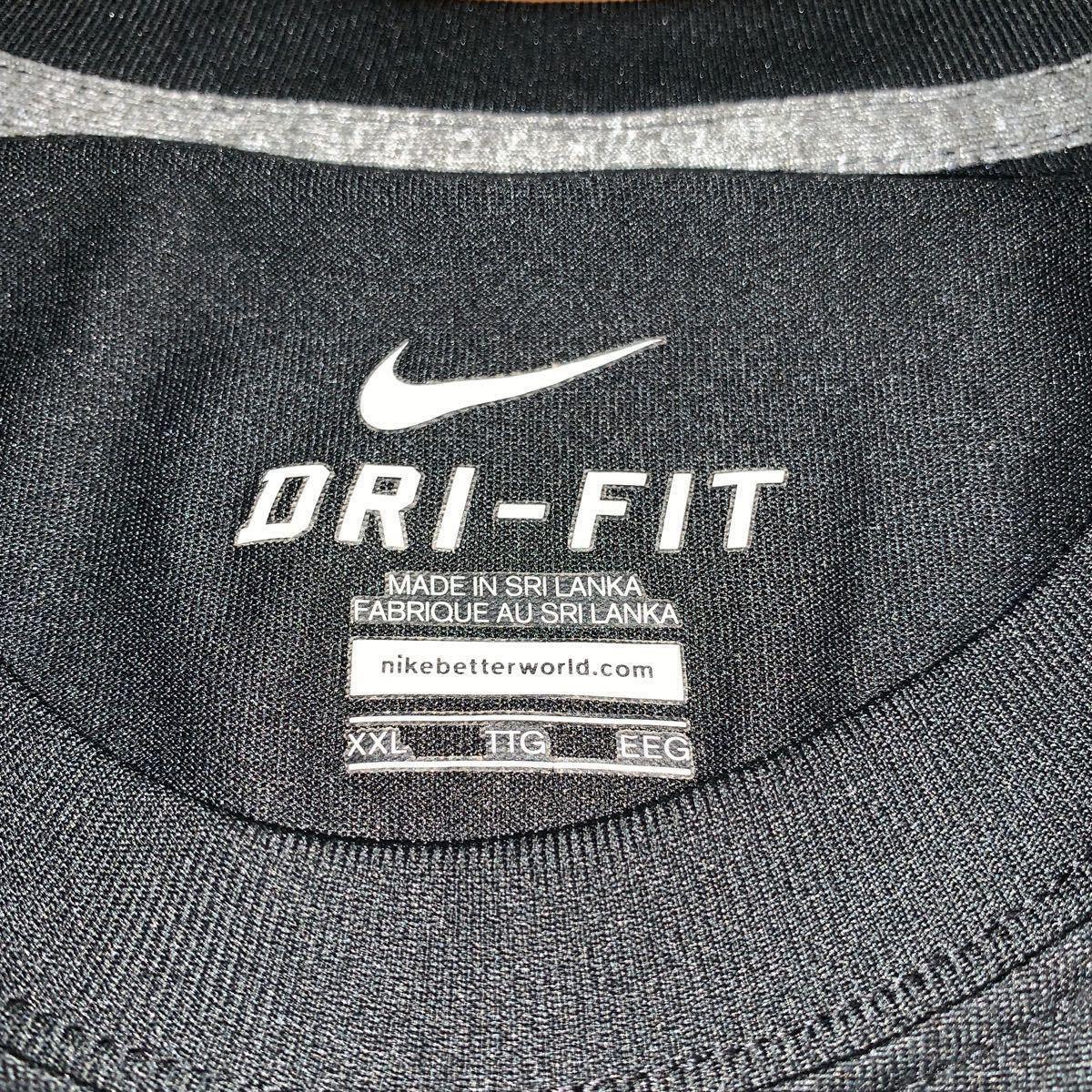 Nike DRY FIT ナイキ ドライフィット 半袖 XXL ブラック XL 2XL 速乾 ドライ Tシャツ NIKE 半袖Tシャツ 黒_画像2