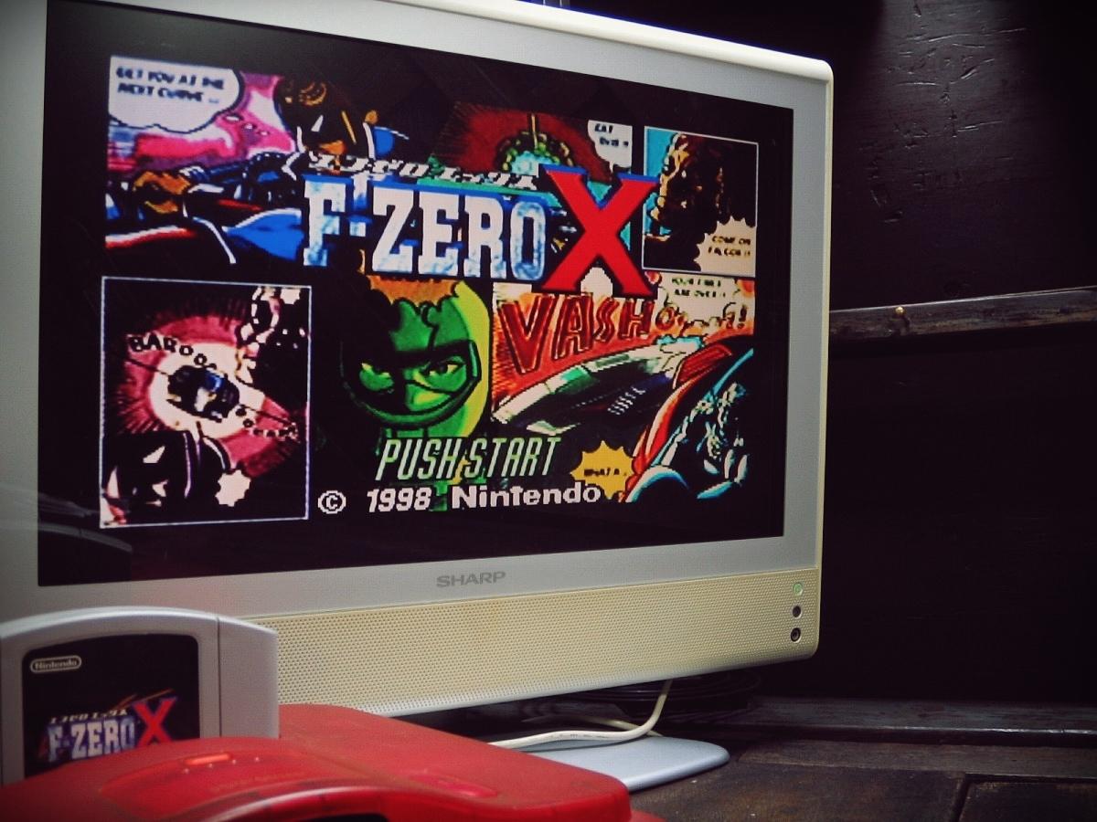 Nintendo 64 N64 ニンテンドー64ソフト 動作確認済 1998年 NUS-CFZJ F-ZEROX エフゼロエックス_画像2