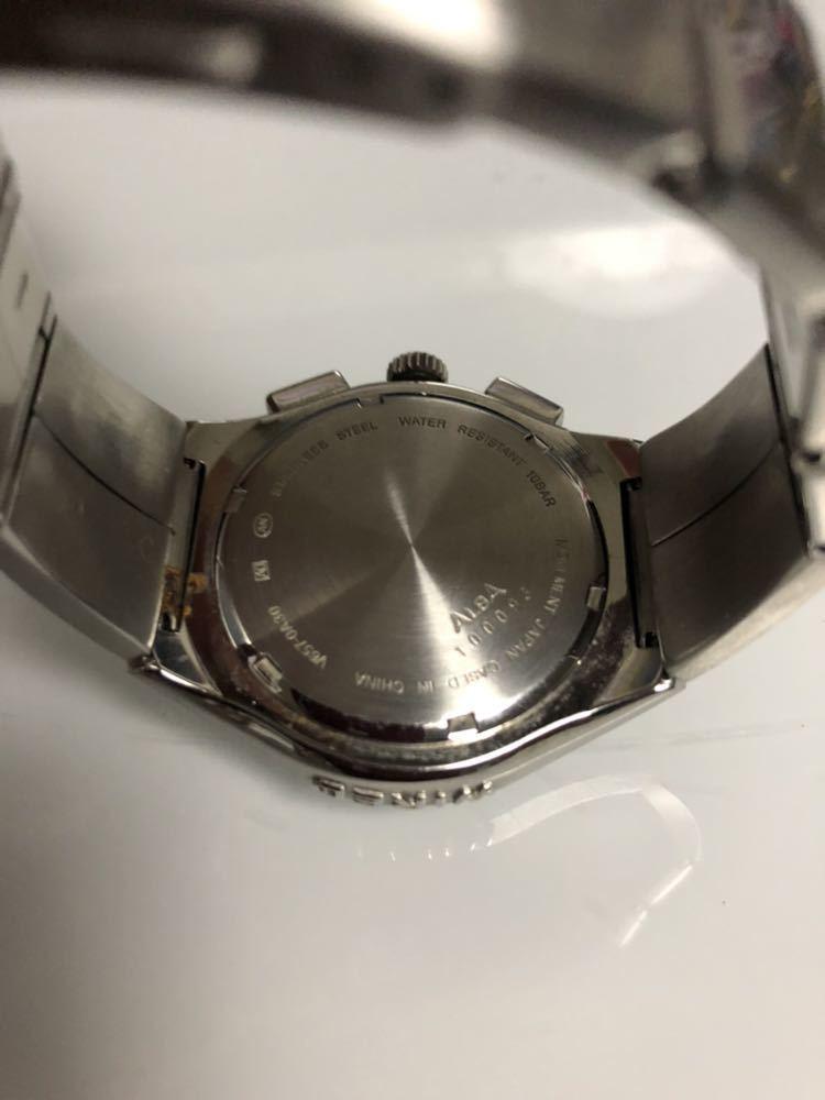 wired ワイアード 腕時計 ALBA100093 v657-0a30 動作未確認 レア物_画像5