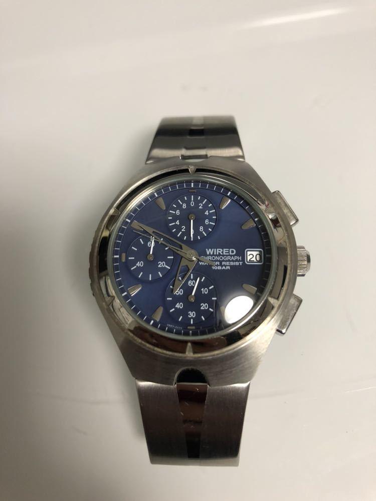 wired ワイアード 腕時計 ALBA100093 v657-0a30 動作未確認 レア物_画像3