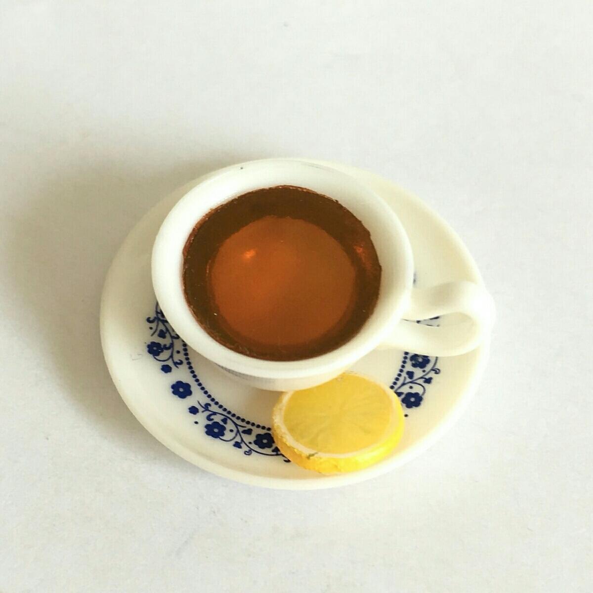 レモンティー 単品 街角のレトロ喫茶店 ミニチュア ぷちサンプル リーメント_画像2