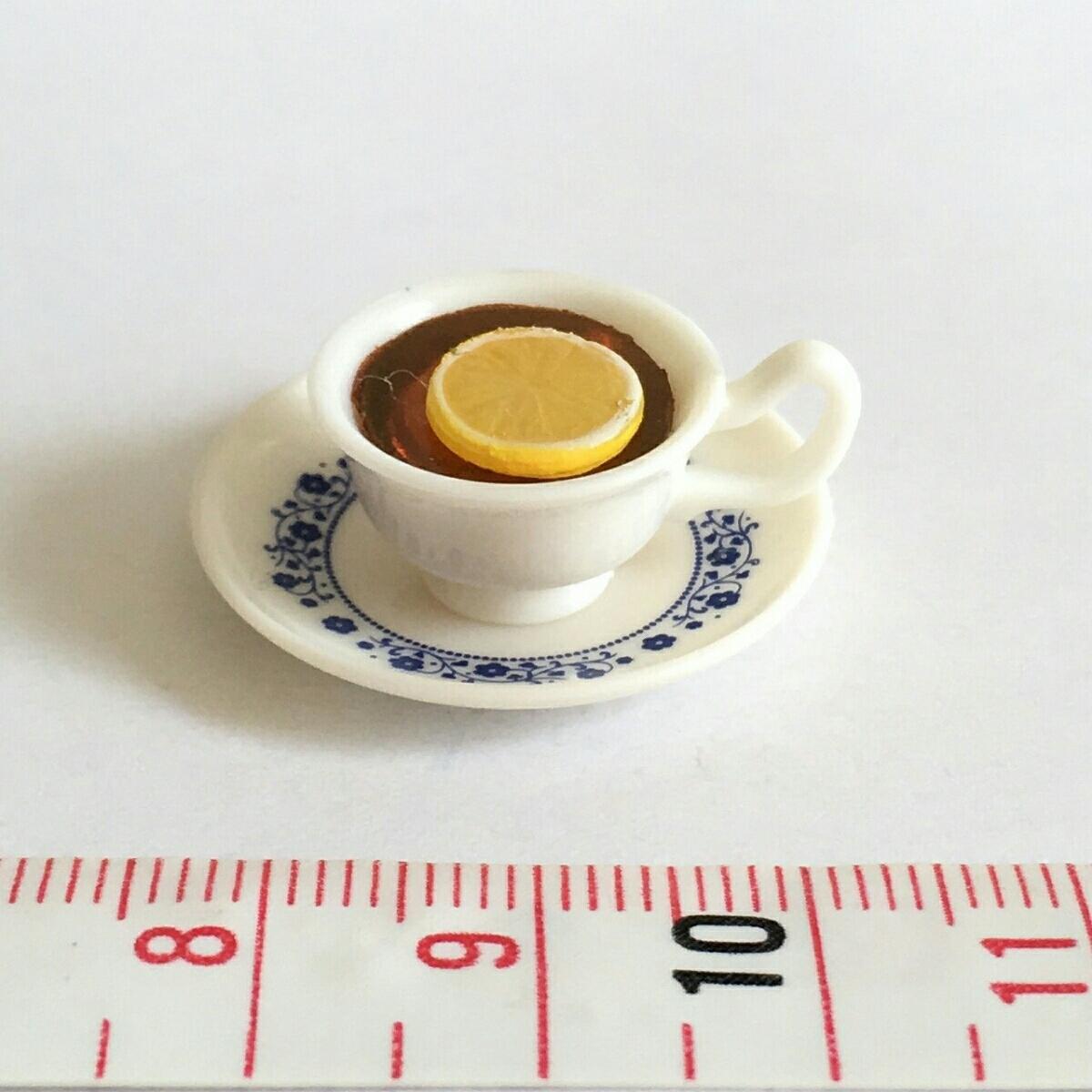 レモンティー 単品 街角のレトロ喫茶店 ミニチュア ぷちサンプル リーメント_画像1