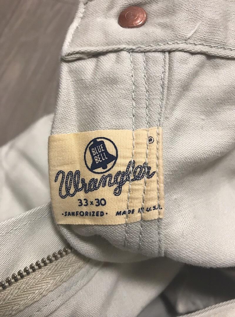 60s Wrangler 33MWZ サテンパンツ 希少 ビンテージ オリジナル 売り切り 極上 50s _画像8
