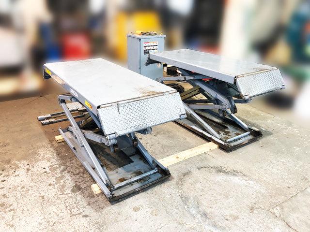 中古 イーグルリフトⅡ バンザイ EGY-25L 床上仕様 Cpa2.5ton パンタ式リフト カーリフト 電動油圧 ユニット別置き スタンド 整備機械工具_画像3