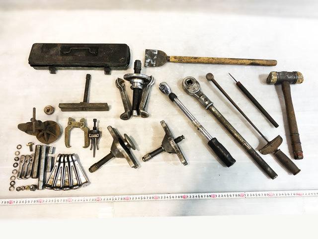 3960 中古 プーラー工具セット ハンマー ラチェット 他 ハンドツール 引抜き カーメンテナンス 自動車整備機械工具