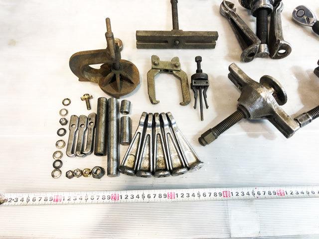 3960 中古 プーラー工具セット ハンマー ラチェット 他 ハンドツール 引抜き カーメンテナンス 自動車整備機械工具_画像2