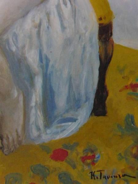 田村孝之介、夜と朝、希少・大判画集画、新品高級額・額装付、状態良好、送料込み、裸婦_画像2