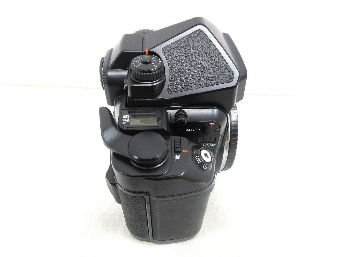 【美品】ペンタックス PENTAX 中判カメラ 67 Ⅱ / レンズ SMC PENTAX 67 MACRO 1:4 100mm / 木製グリップ 他付属品有 _画像4
