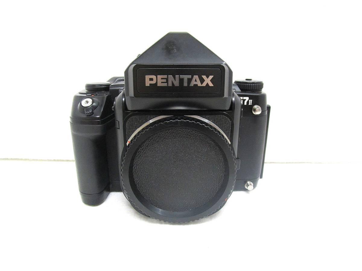 【美品】ペンタックス PENTAX 中判カメラ 67 Ⅱ / レンズ SMC PENTAX 67 MACRO 1:4 100mm / 木製グリップ 他付属品有 _画像2