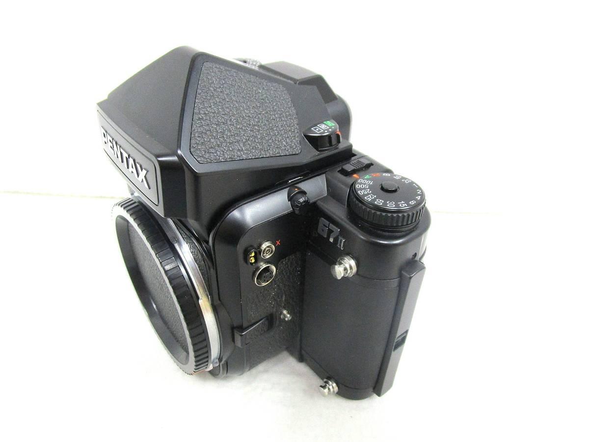 【美品】ペンタックス PENTAX 中判カメラ 67 Ⅱ / レンズ SMC PENTAX 67 MACRO 1:4 100mm / 木製グリップ 他付属品有 _画像3
