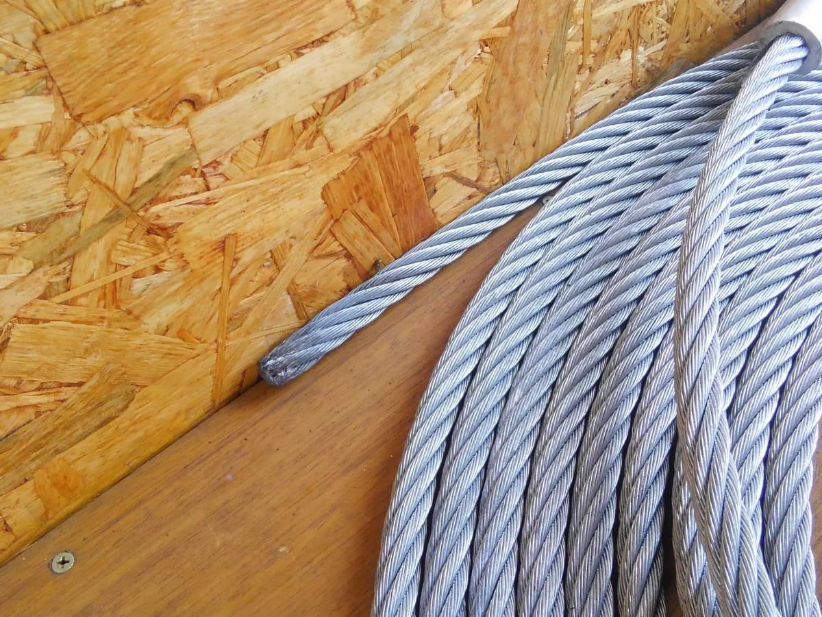 チルホール ハンドウインチ ホイスト 3.2トン 3.2t 20mワイヤー付き 使用頻度少 中古 長野県より_画像9